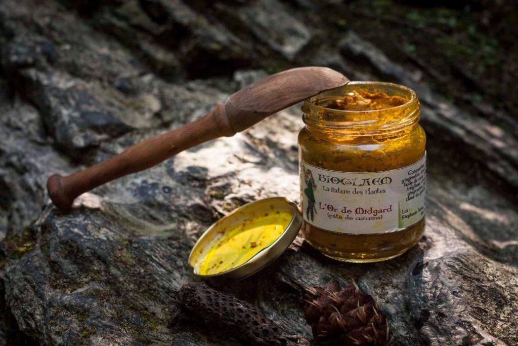 L'Or de Midgard, pâte de curcuma ©Bioglaem, la Nature des plantes